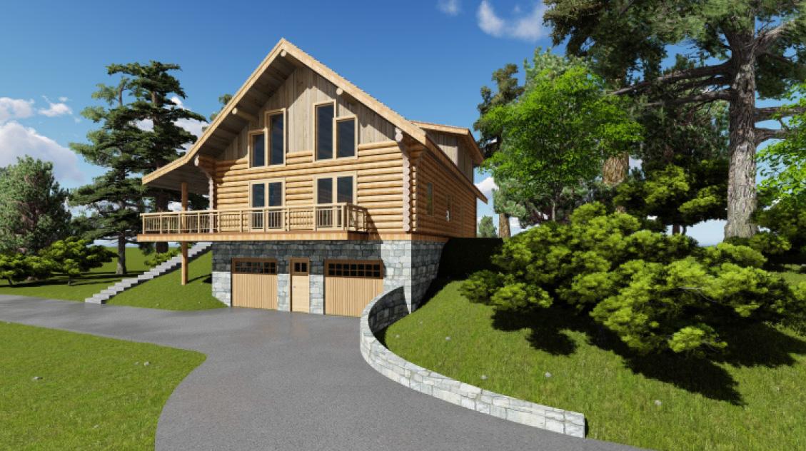 The Acadian Acadian Log Homes